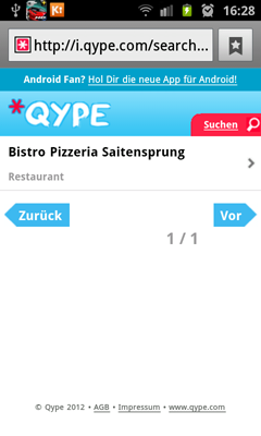 Qype - Pizza