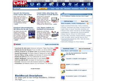 normale Chip.de Website